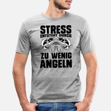 Angels Stress is caused by too little fishing spell - Men's Slim Fit T-Shirt