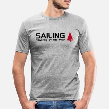 Sailing powered by the wind - Männer Slim Fit T-Shirt