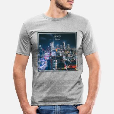 Los Angeles Skyline at night - Los Angeles - sleepless - Men's Slim Fit T-Shirt