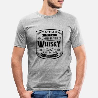 Whiskey Whiskey Label - Männer Slim Fit T-Shirt