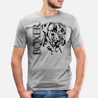 Boxer Deutscher BOXER Hund Hunde Hundeportrait Wilsigns - Männer Slim Fit T-Shirt