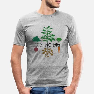 I Dig No Dig (Colored) - Men's Slim Fit T-Shirt