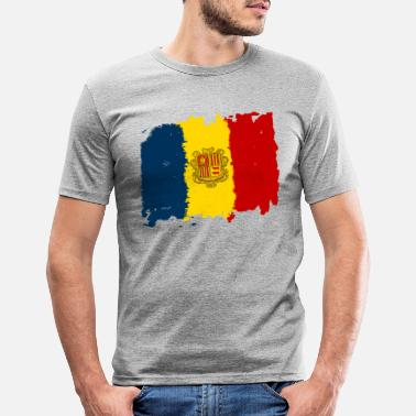 Bandera Andorra bandera - Andorra flag - Men's Slim Fit T-Shirt