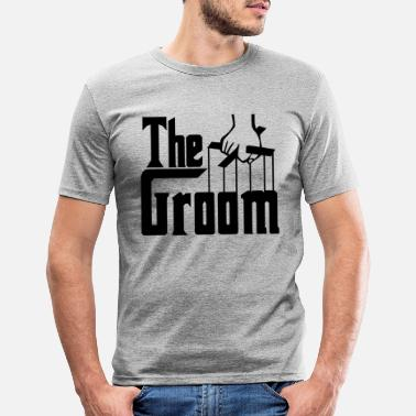Groom The Groom. Stag Party. Husband to Be. Bridegroom. - Men's Slim Fit T-Shirt
