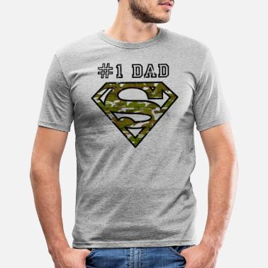 Superdad Superman Super Dad Army - Männer Slim Fit T-Shirt
