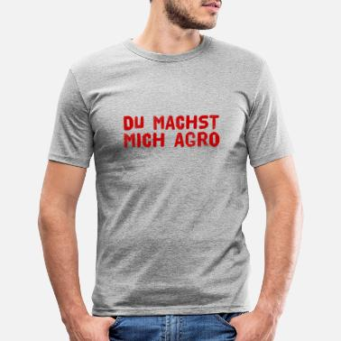Aggression du erzeugst in mir Aggressionen - Männer Slim Fit T-Shirt