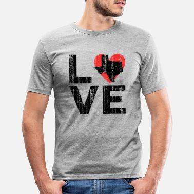 Texaner Texas Texaner Love - Männer Slim Fit T-Shirt