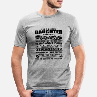 Daughter Father daughter daddy family buddy gift idea - Men's Slim Fit T-Shirt