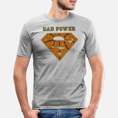 Superdad Superman Super Dad Power - Männer Slim Fit T-Shirt