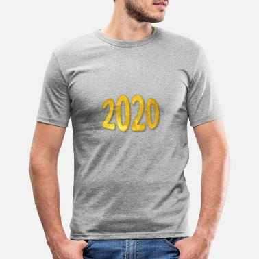 Years 2020 Year Year Gold - Slim fit T-skjorte for menn