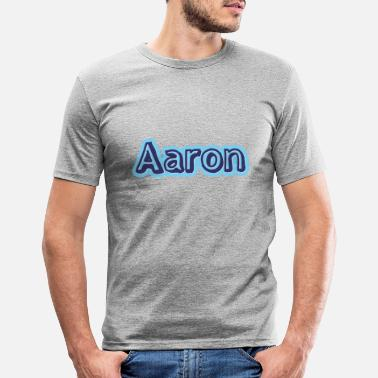 First Name Aaron name first name - Men's Slim Fit T-Shirt