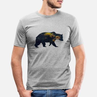 Funges Bear and Mushroom - Men's Slim Fit T-Shirt