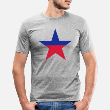 Angola Liechtenstein star - Men's Slim Fit T-Shirt