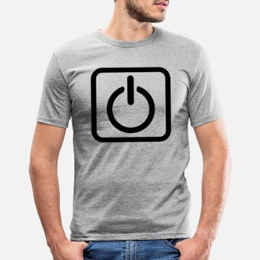Key Button Power Button Start Key power button icon button - Men's Slim Fit T-Shirt