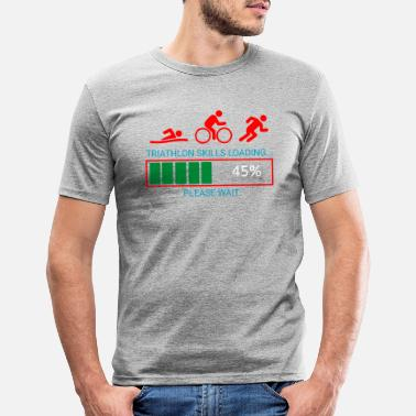 Bike Triathlon Swim Bike Run - Men's Slim Fit T-Shirt