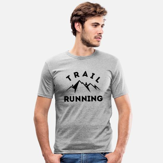 Renner T-Shirts - Trail Running - Männer Slim Fit T-Shirt Grau meliert