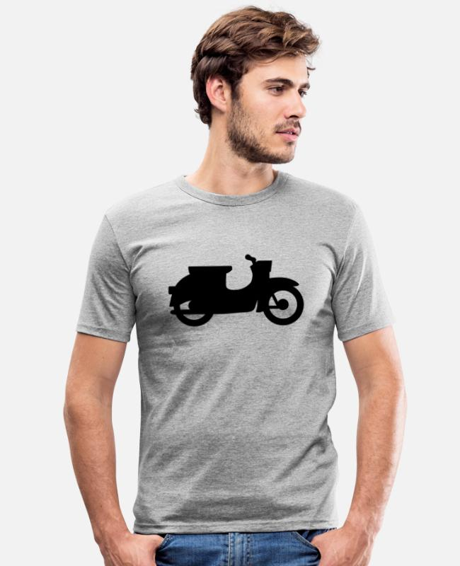 Simson Driver T-Shirts - Swallow silhouette - Men's Slim Fit T-Shirt heather grey