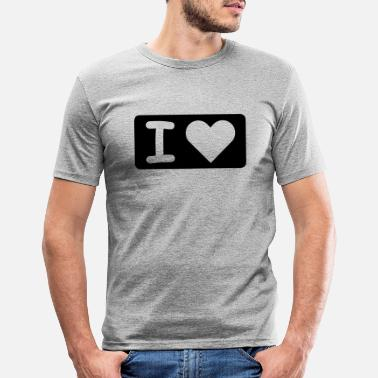 I Heart I HEART - Männer Slim Fit T-Shirt