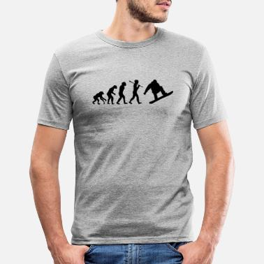 snowboard evolution - Men's Slim Fit T-Shirt