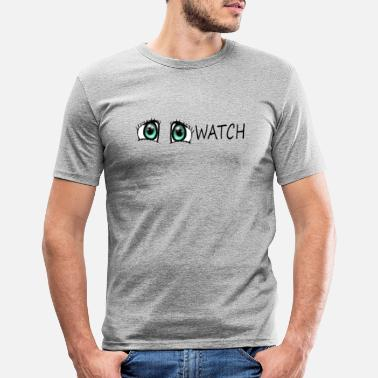 Watching Watch - Men's Slim Fit T-Shirt