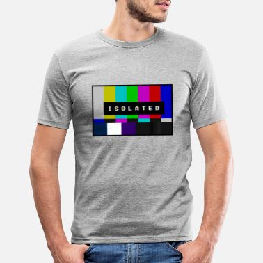 Isolated Isolated Isolated Vaporwave Design - Men's Slim Fit T-Shirt