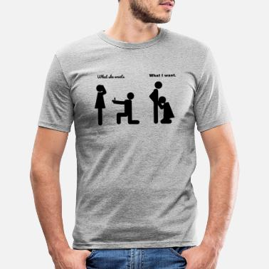 Funny Wedding joke - Men's Slim Fit T-Shirt
