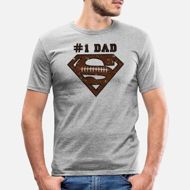 Superdad Superman Super Dad Football - Männer Slim Fit T-Shirt