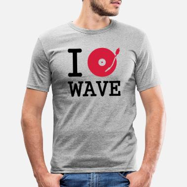 Disque i dj / play / listen to wave - T-shirt moulant Homme