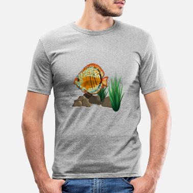 Akvarium fisk - T-shirt slim fit herr