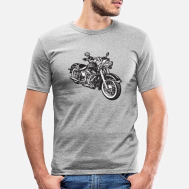 Motorcycle chopper hog bike motorrad - Men's Slim Fit T-Shirt