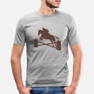 Show Jumping show jumping - Men's Slim Fit T-Shirt