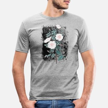 Vintage dog rose - Men's Slim Fit T-Shirt