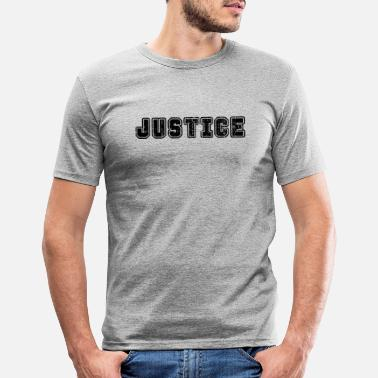 Single Word Design Justice - Männer Slim Fit T-Shirt
