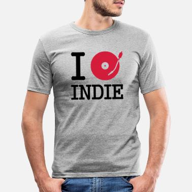 Indie i dj / play / listen to indie - T-shirt moulant Homme