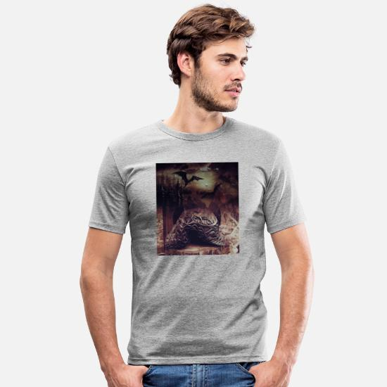 Légende T-shirts - fantaisie - T-shirt moulant Homme gris chiné