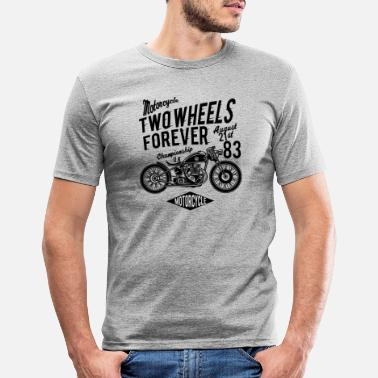 Two-wheeled Two Wheels Forever - Men's Slim Fit T-Shirt