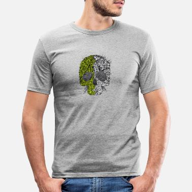 3a9ca5643cec Cool Plant Skull With Horror Party Face - Men's Slim Fit T