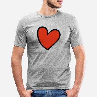 Crook crooked heart - Men's Slim Fit T-Shirt