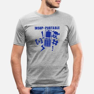 Mobile Phone unbearable mobile phone phone - Men's Slim Fit T-Shirt