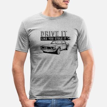 Black And White Collection Drive It - Coupe - Slim fit T-skjorte for menn