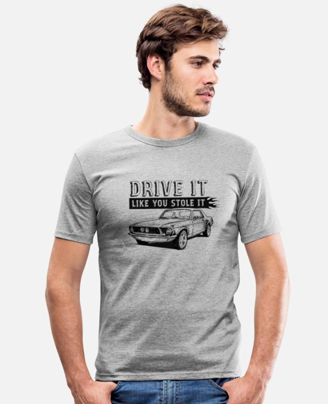 Bikes And Cars Collection T-shirts - Drive It - Coupe - T-shirt slim fit herr gråmelerad