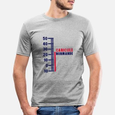 Normands thermometre canicule normande humour - T-shirt moulant Homme