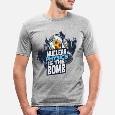 Nucleaire Nucleaire fysica - Mannen slim fit T-shirt