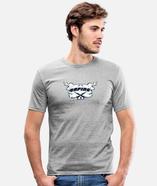 Hipster T-Shirts - Vaping cloud - Men's Slim Fit T-Shirt heather grey