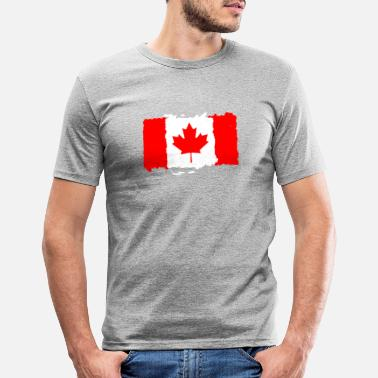 Canadas Flagg Canada flagg - Slim fit T-skjorte for menn