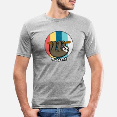 Pause Sloth Vintage Lazy Chilling Sleeping Gift - Slim fit T-shirt mænd