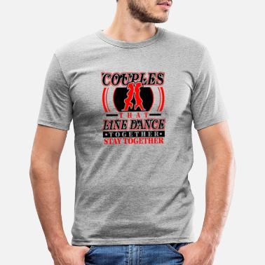 Cowboy Line Dance Citat Line Dancing Saying Funny Cute Co - T-shirt slim fit herr