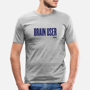 User brain user by wam - Slim fit T-skjorte for menn
