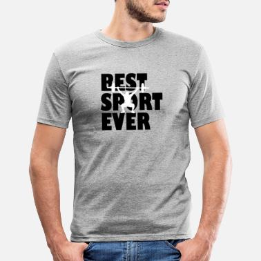 Adult Humour Best Sport ever | weightlifter - Men's Slim Fit T-Shirt