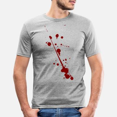 Spatter blood spatter - Men's Slim Fit T-Shirt